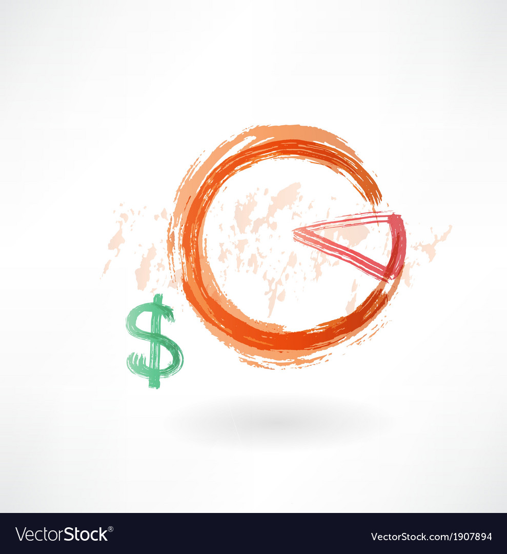 Financial schedule grunge icon vector | Price: 1 Credit (USD $1)
