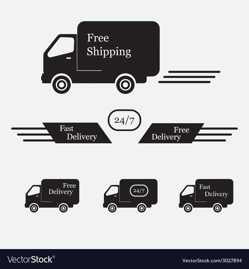 Icons shipments and free delivery vector | Price: 1 Credit (USD $1)