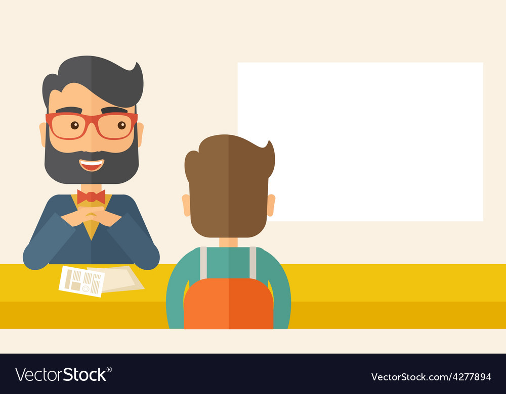 Job interview vector | Price: 1 Credit (USD $1)