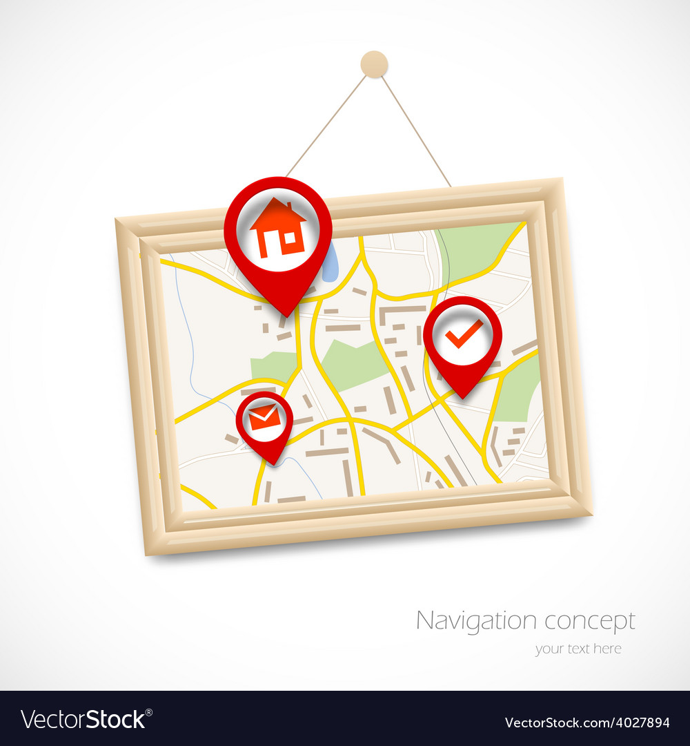 Navigration map vector | Price: 1 Credit (USD $1)