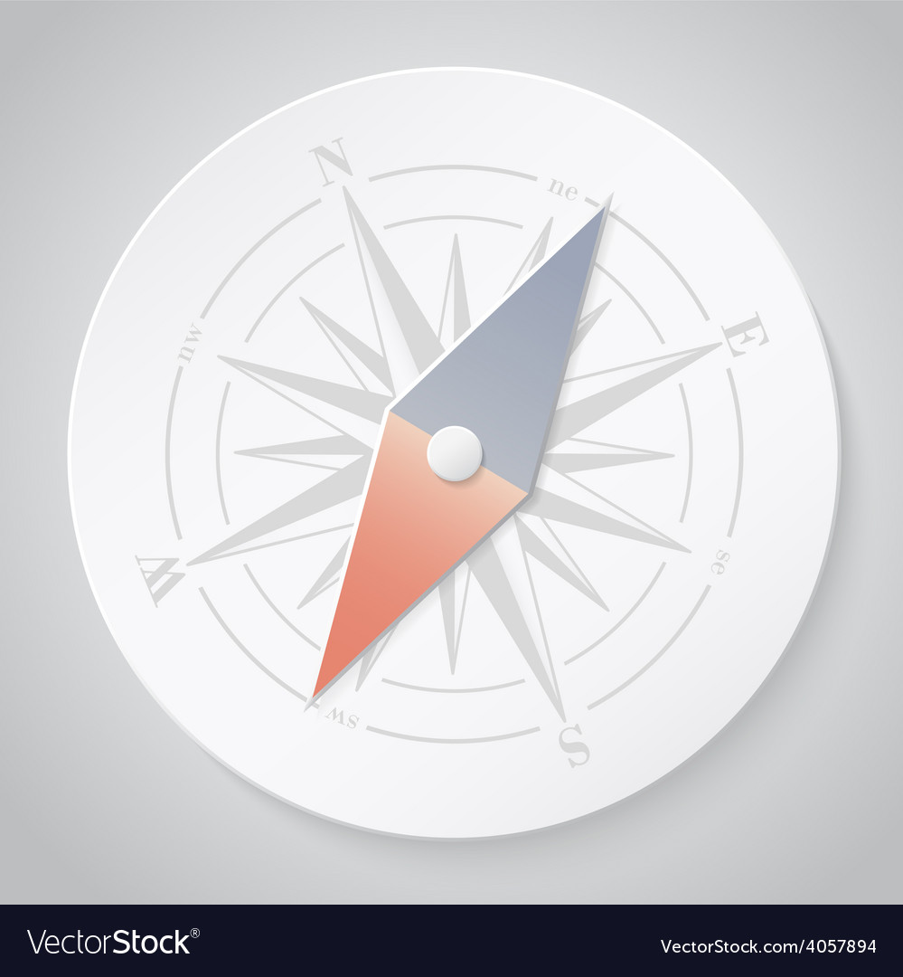 Paper compass vector | Price: 1 Credit (USD $1)