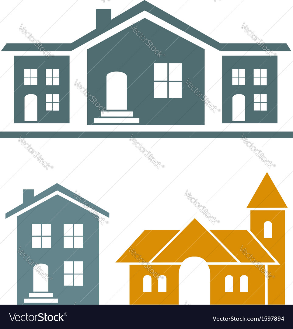 Real estate icons vector | Price:  Credit (USD $)