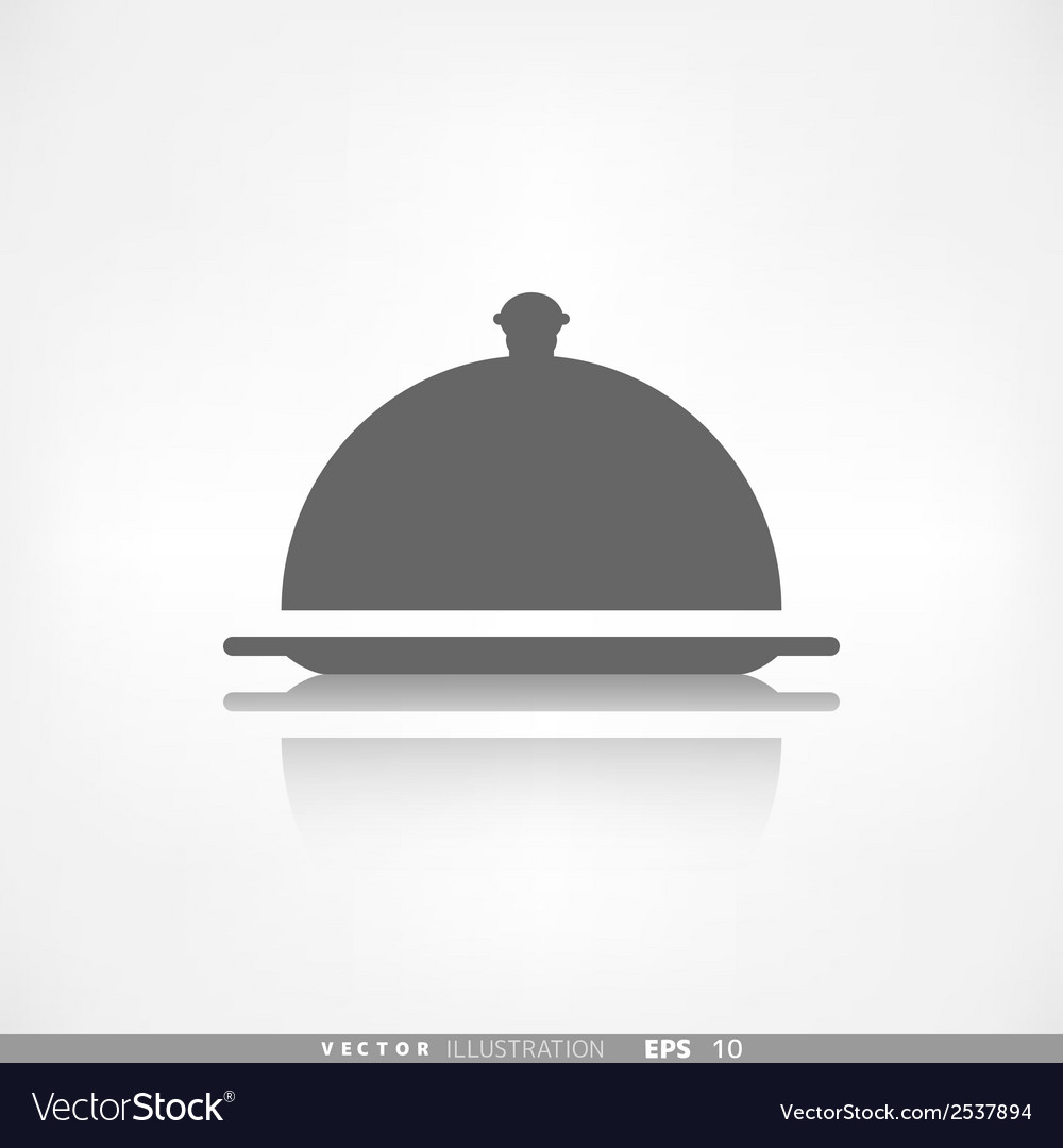 Restaurant cloche icon vector | Price: 1 Credit (USD $1)