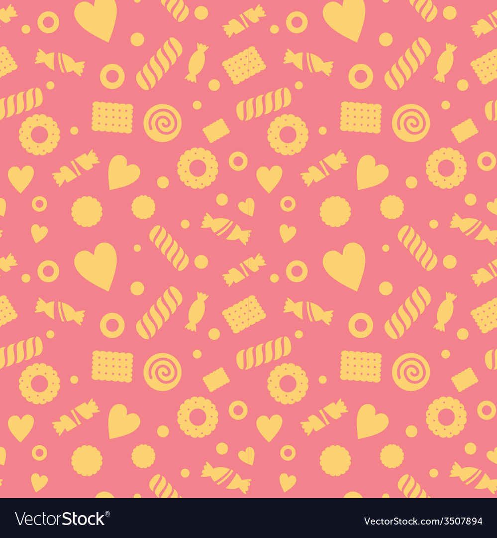 Seamless pattern with candy and cookies vector   Price: 1 Credit (USD $1)