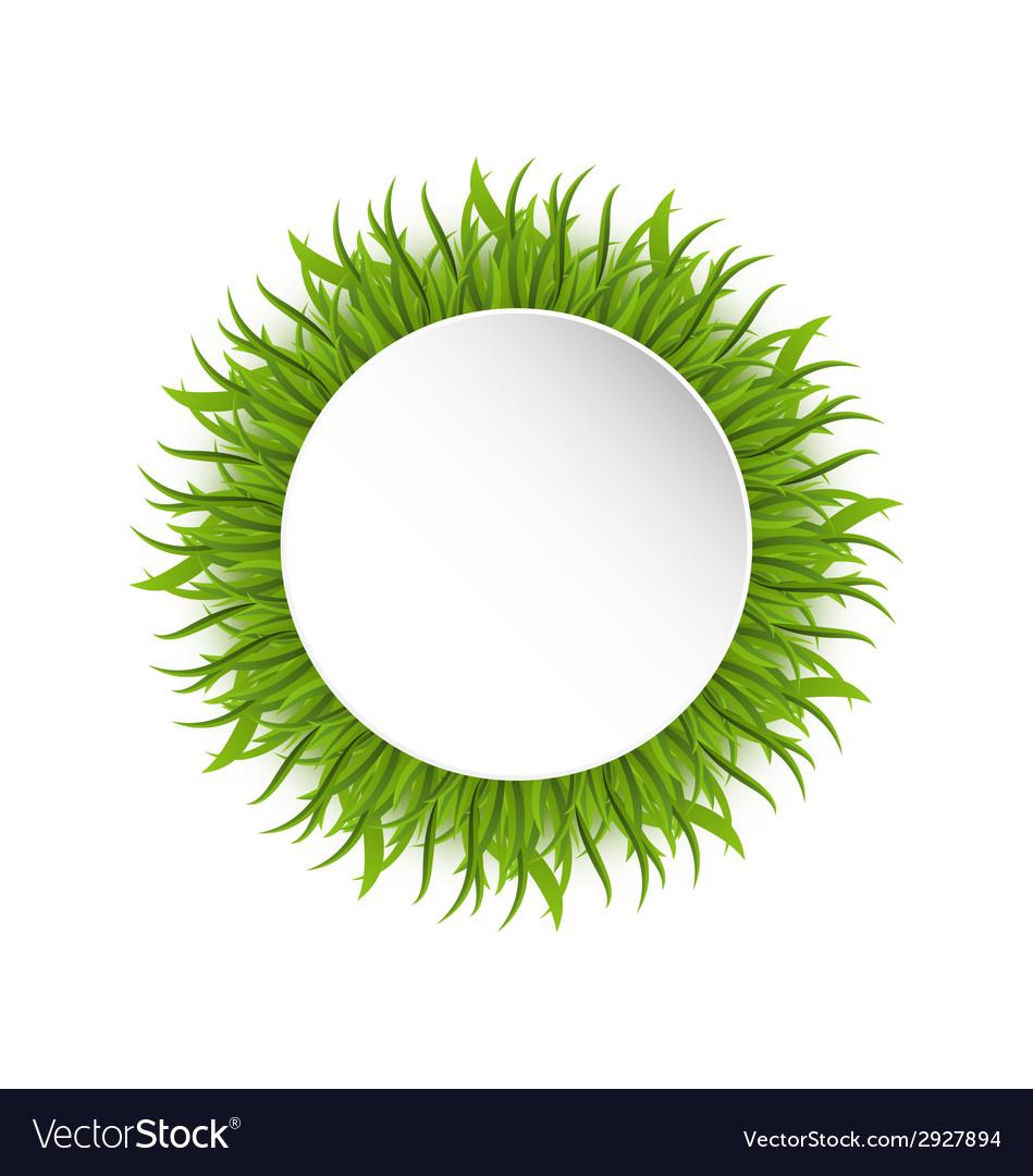 Summer grass circle go green concept vector | Price: 1 Credit (USD $1)