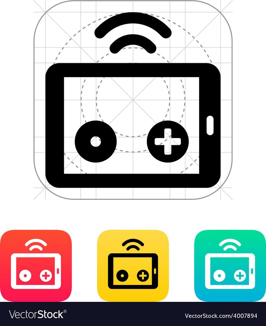 Tablet remote controller icon vector   Price: 1 Credit (USD $1)