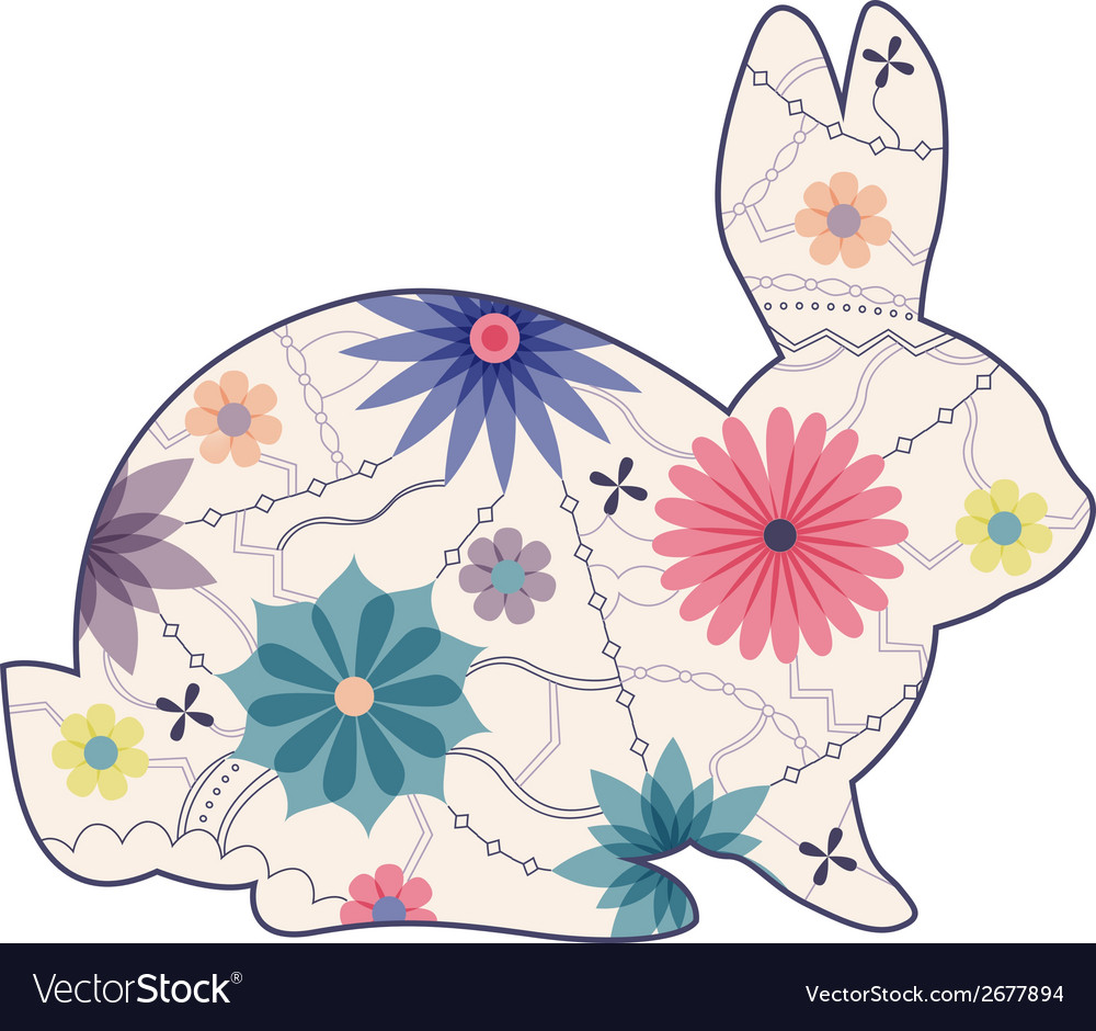 Vintage rabbit vector | Price: 1 Credit (USD $1)