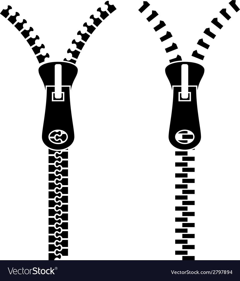 Zipper black symbols vector | Price: 1 Credit (USD $1)