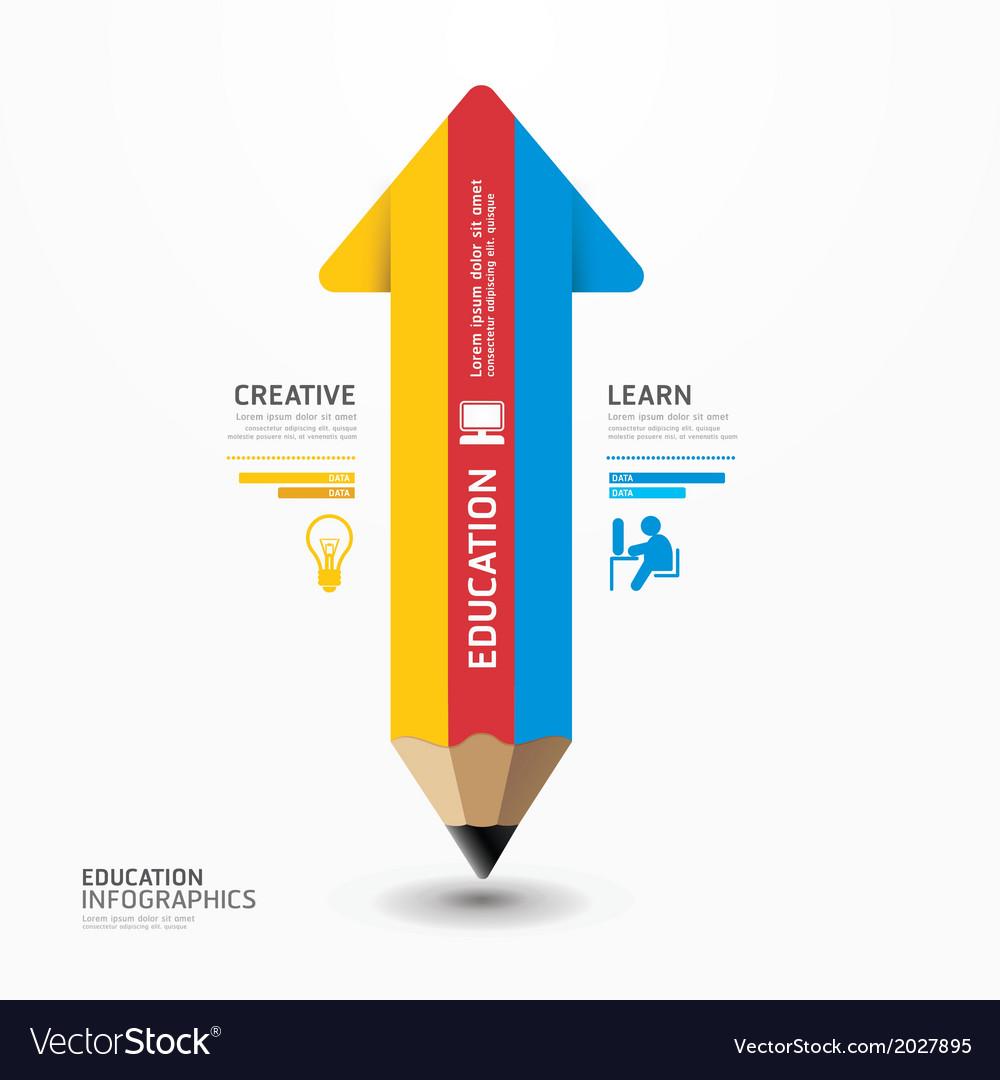 Arrow pencil infographic design minimal style vector   Price: 1 Credit (USD $1)
