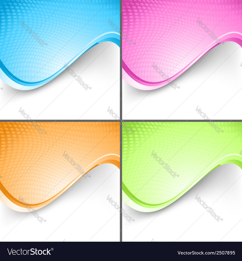 Colorful wave folder templates set vector | Price: 1 Credit (USD $1)