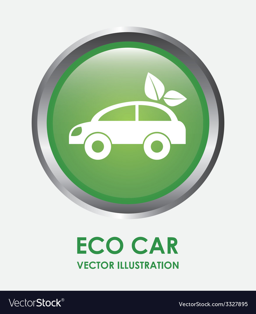 Eco car design vector | Price: 1 Credit (USD $1)