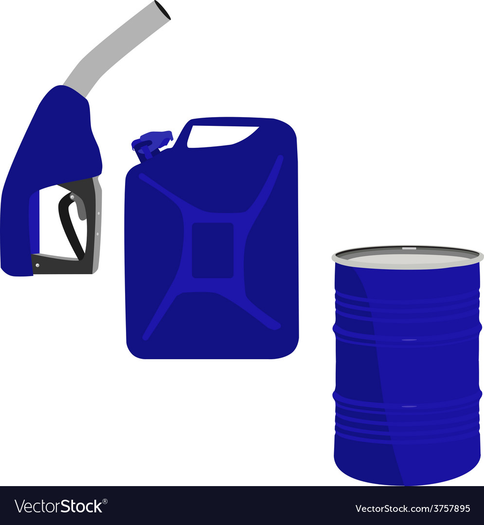 Fuel pump barrel and canister vector | Price: 1 Credit (USD $1)