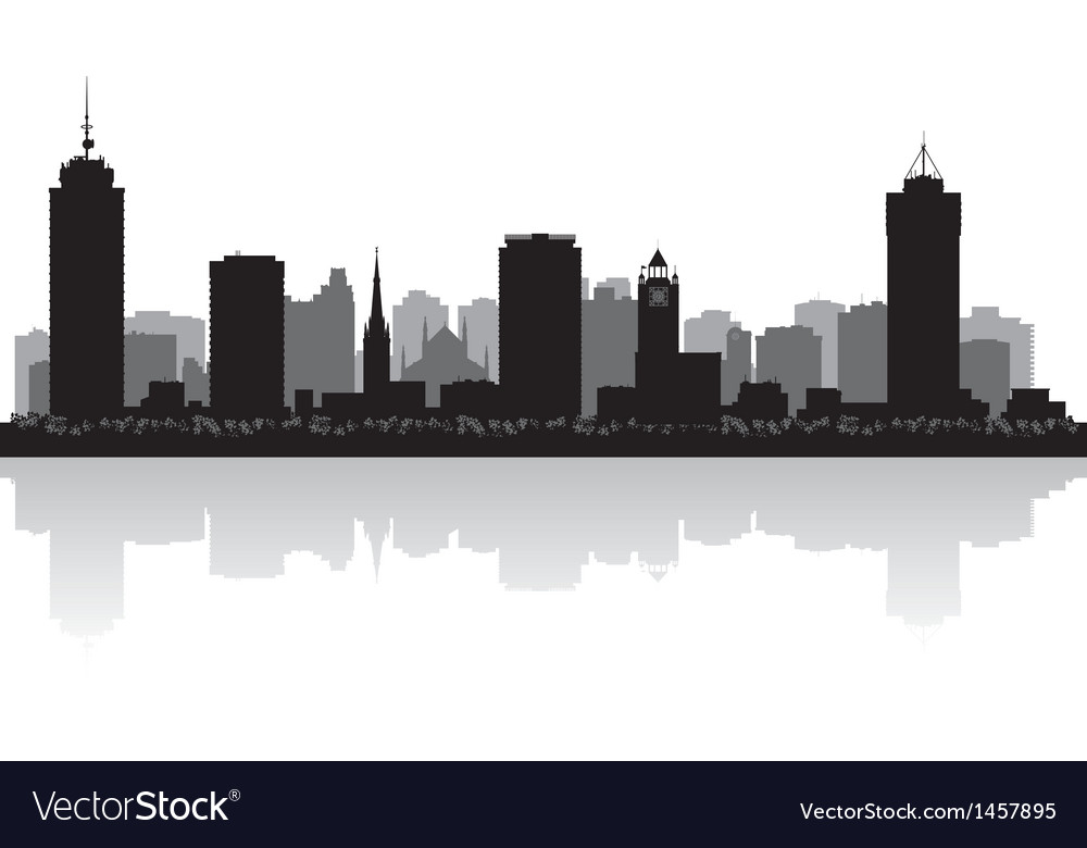 Hamilton canada city skyline silhouette vector | Price: 1 Credit (USD $1)