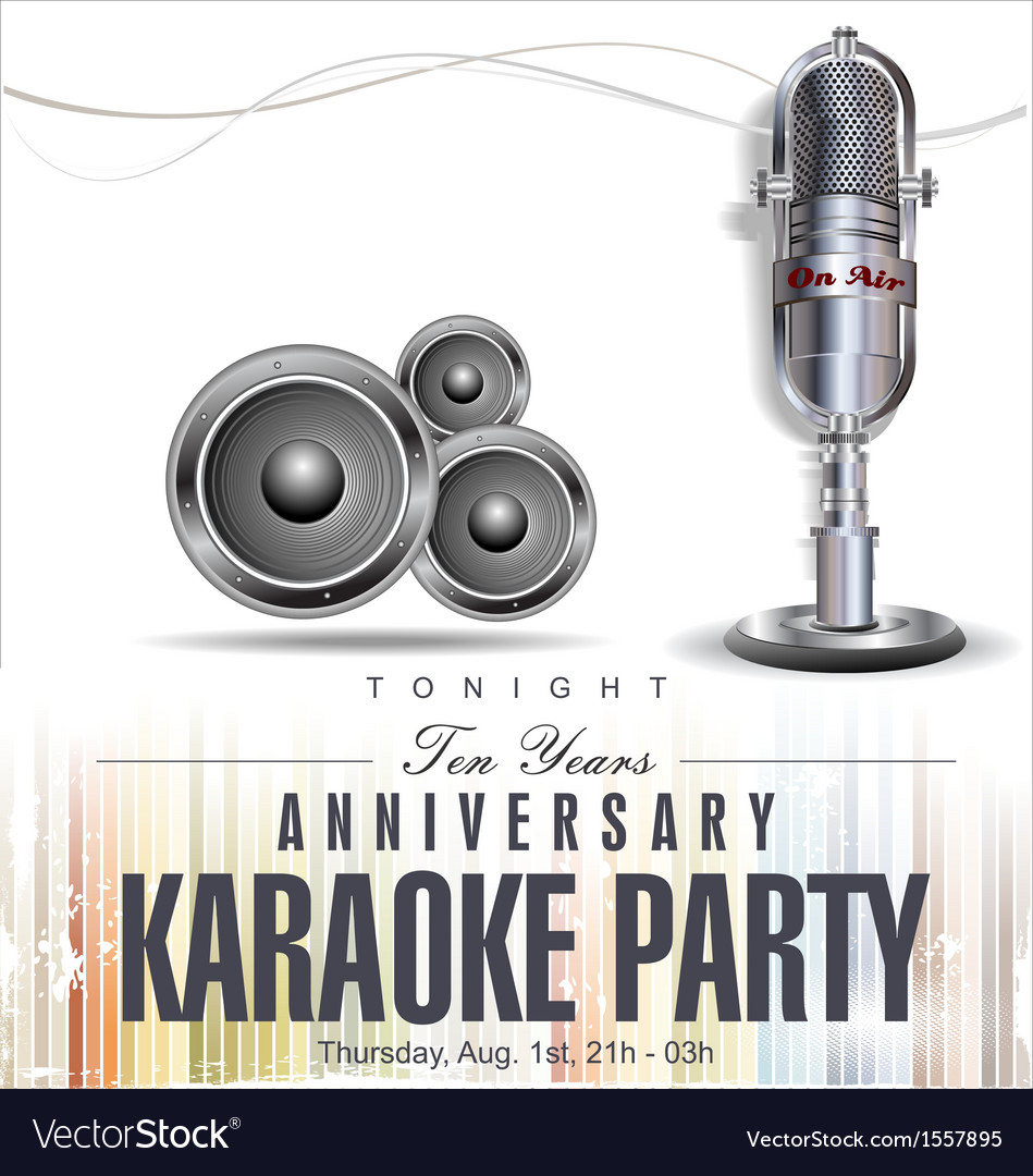 Karaoke background vector | Price: 1 Credit (USD $1)