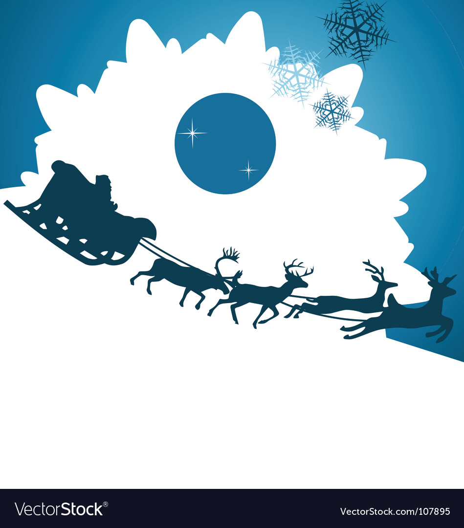 Santa claus background vector | Price:  Credit (USD $)