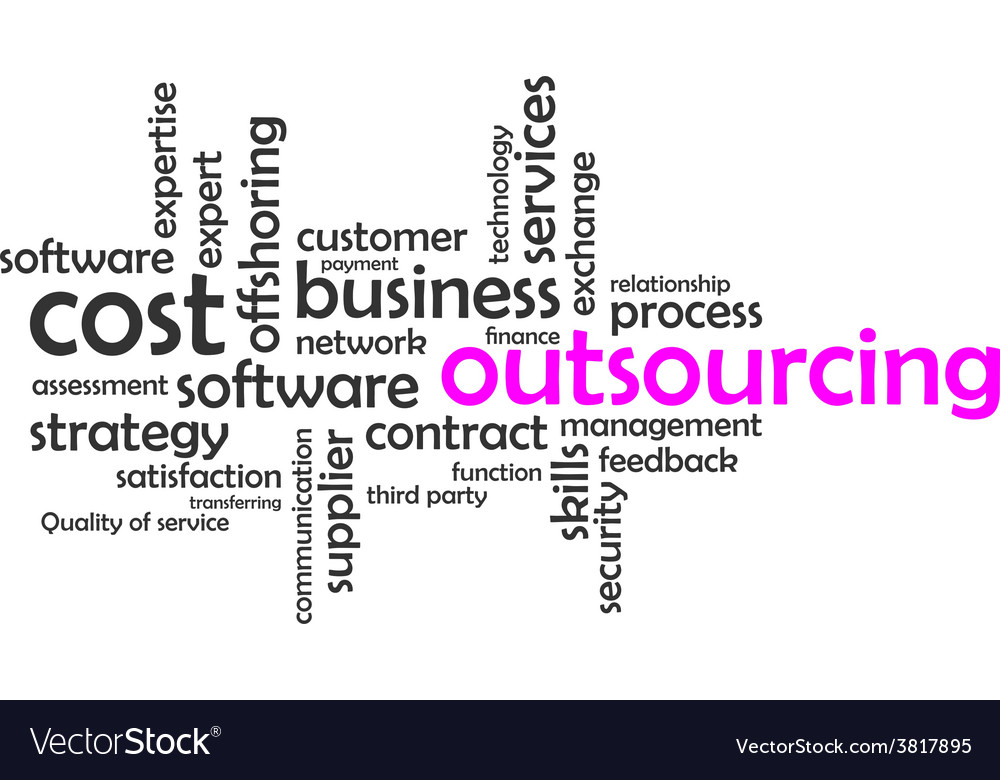 Word cloud outsourcing vector | Price: 1 Credit (USD $1)