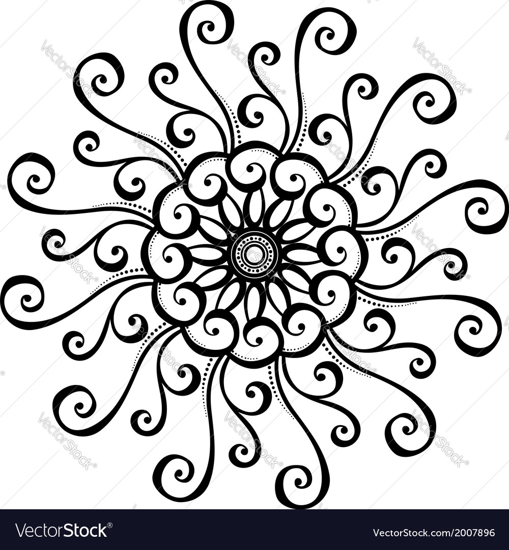 Beautiful deco circle vector | Price: 1 Credit (USD $1)