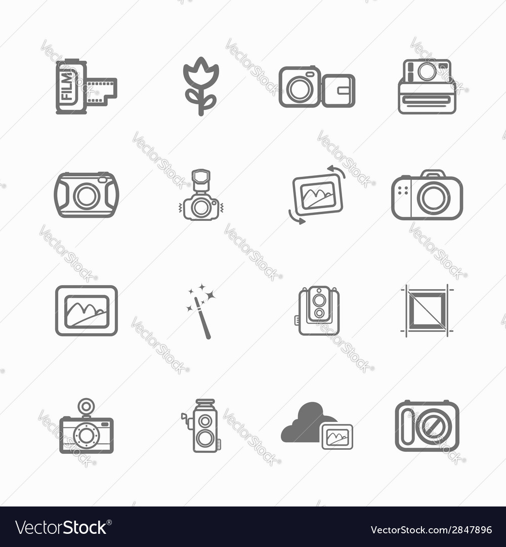 Camera icon photo vector | Price: 1 Credit (USD $1)