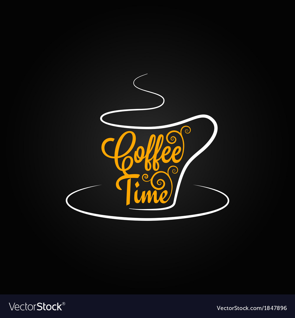 Coffee cup sign design background vector | Price: 1 Credit (USD $1)