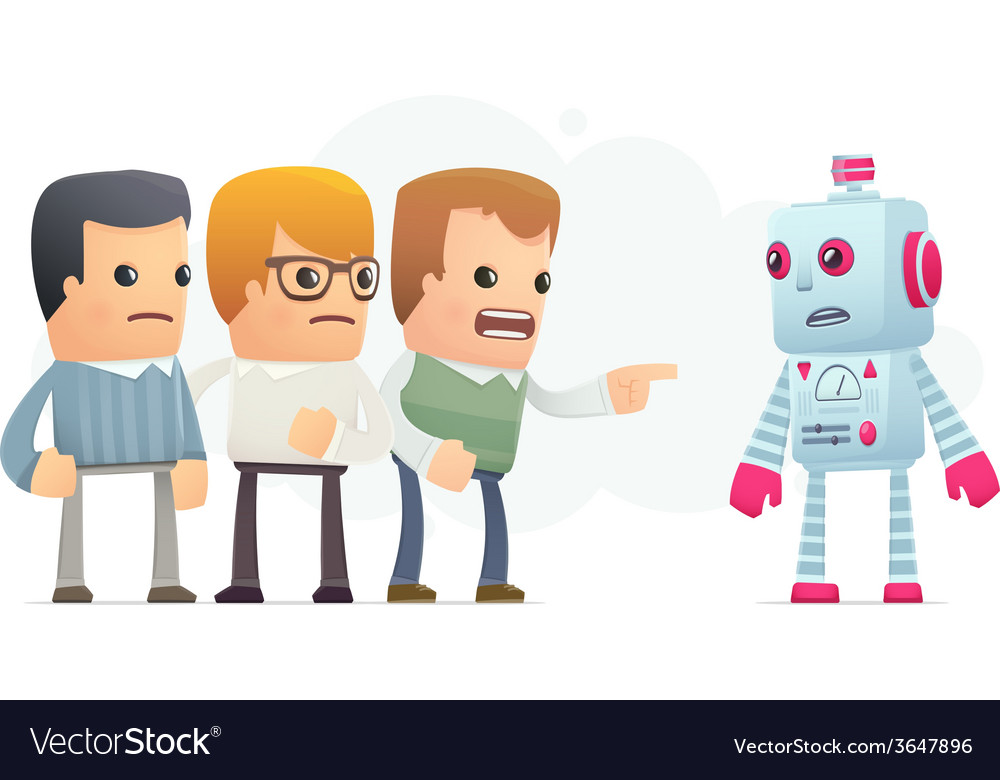Community accuses robot vector | Price: 1 Credit (USD $1)