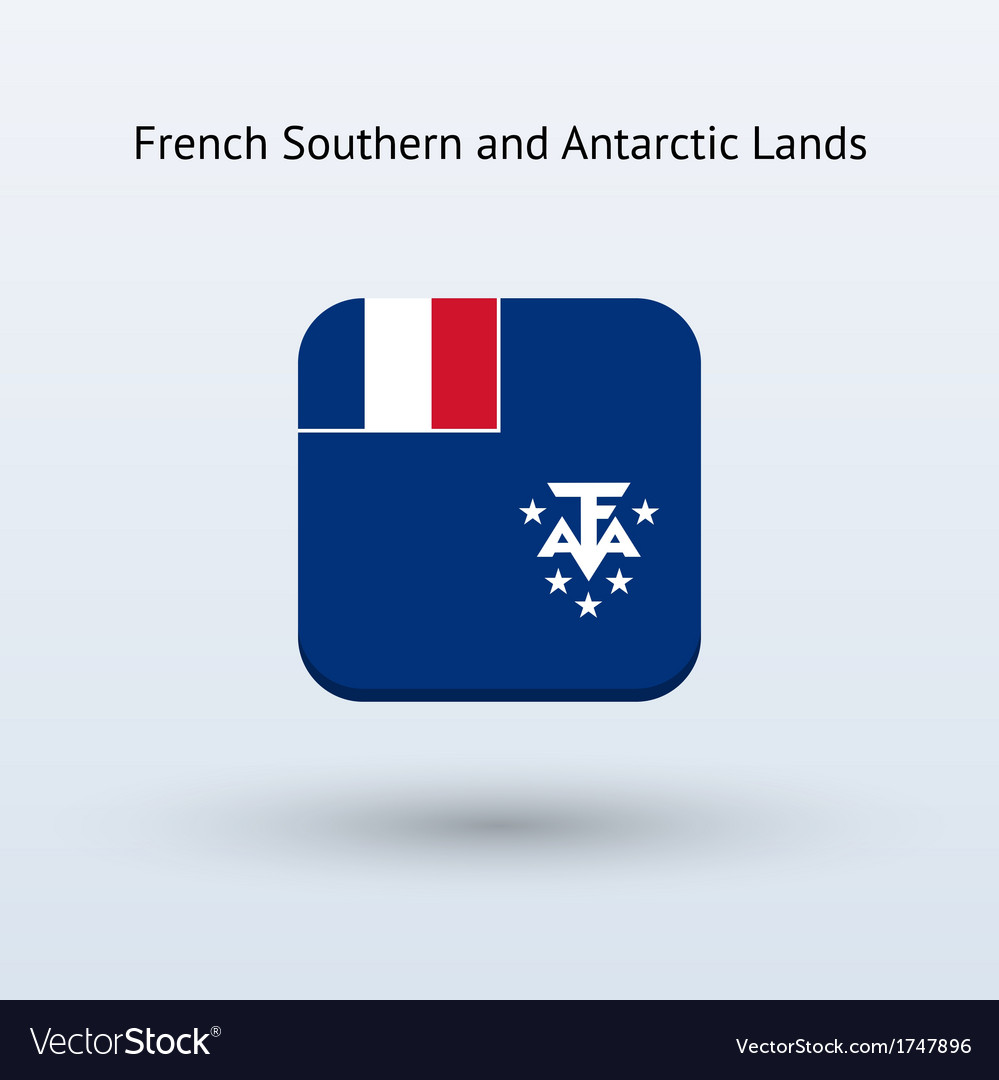 French southern and antarctic lands flag icon vector | Price: 1 Credit (USD $1)