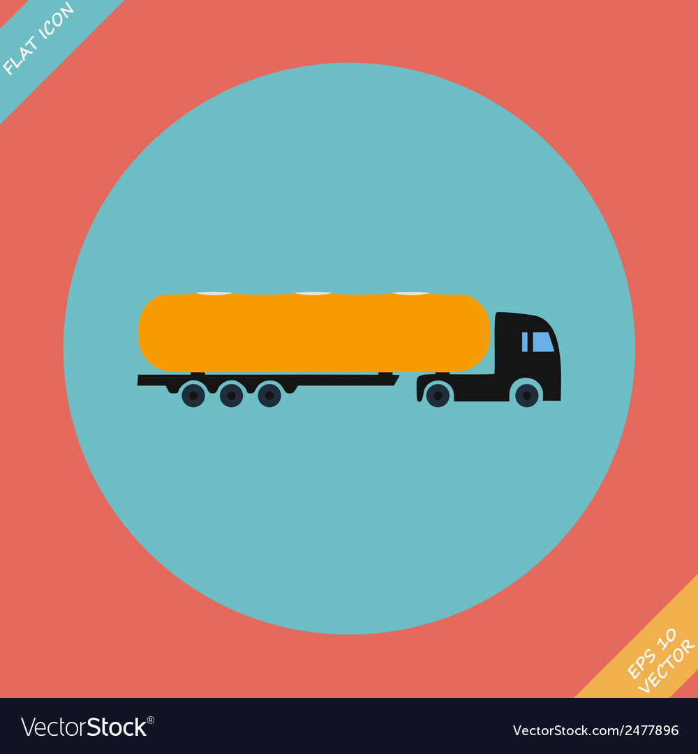 Icon trucks with tanks - vector | Price: 1 Credit (USD $1)