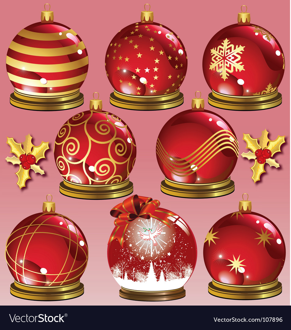 Red ornaments vector | Price: 1 Credit (USD $1)