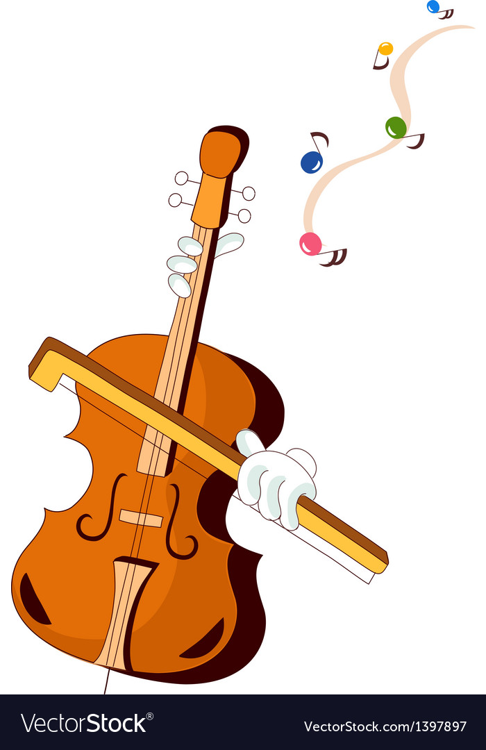 A playing violin vector | Price: 1 Credit (USD $1)