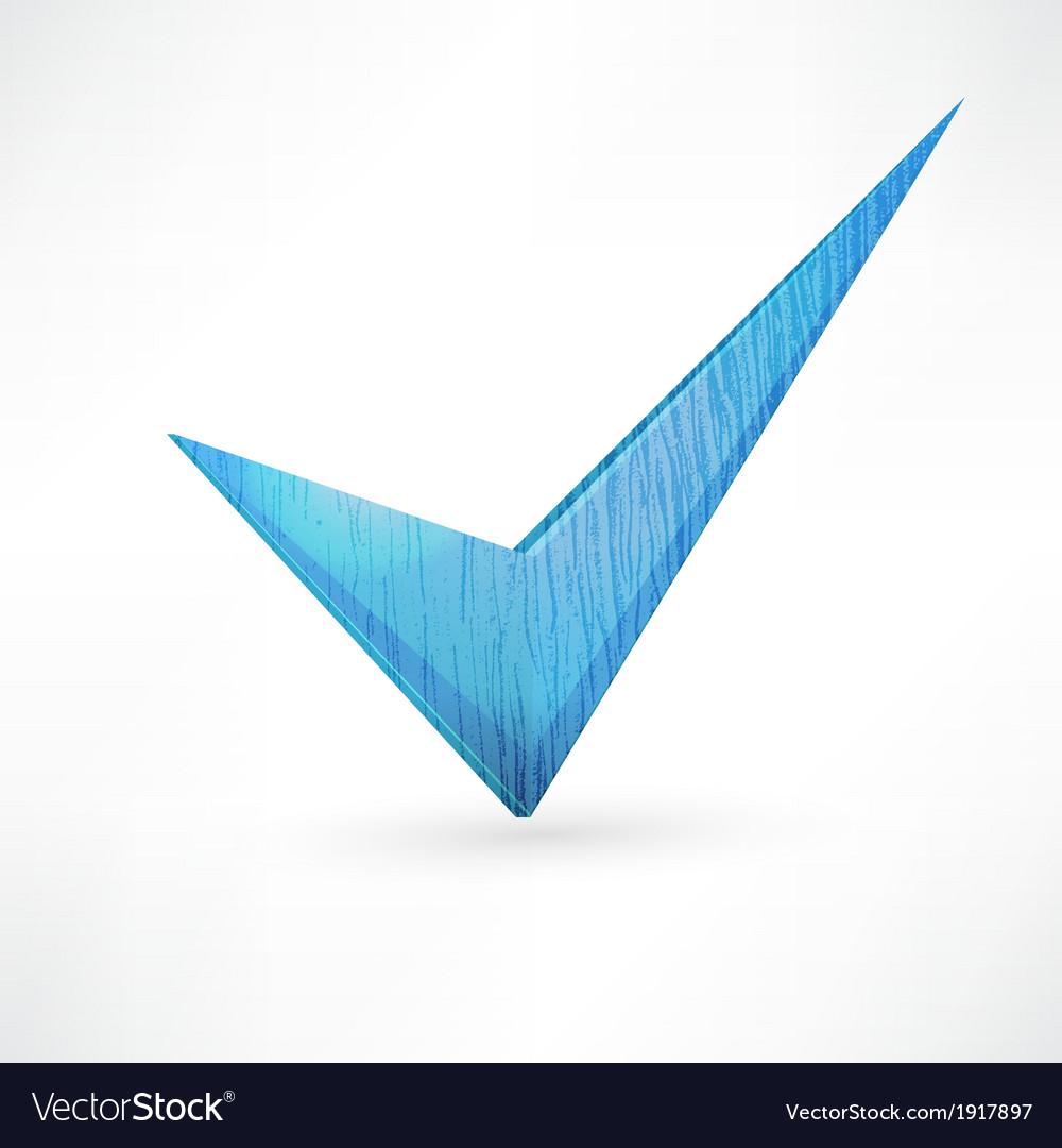Blue checkmark vector | Price: 1 Credit (USD $1)