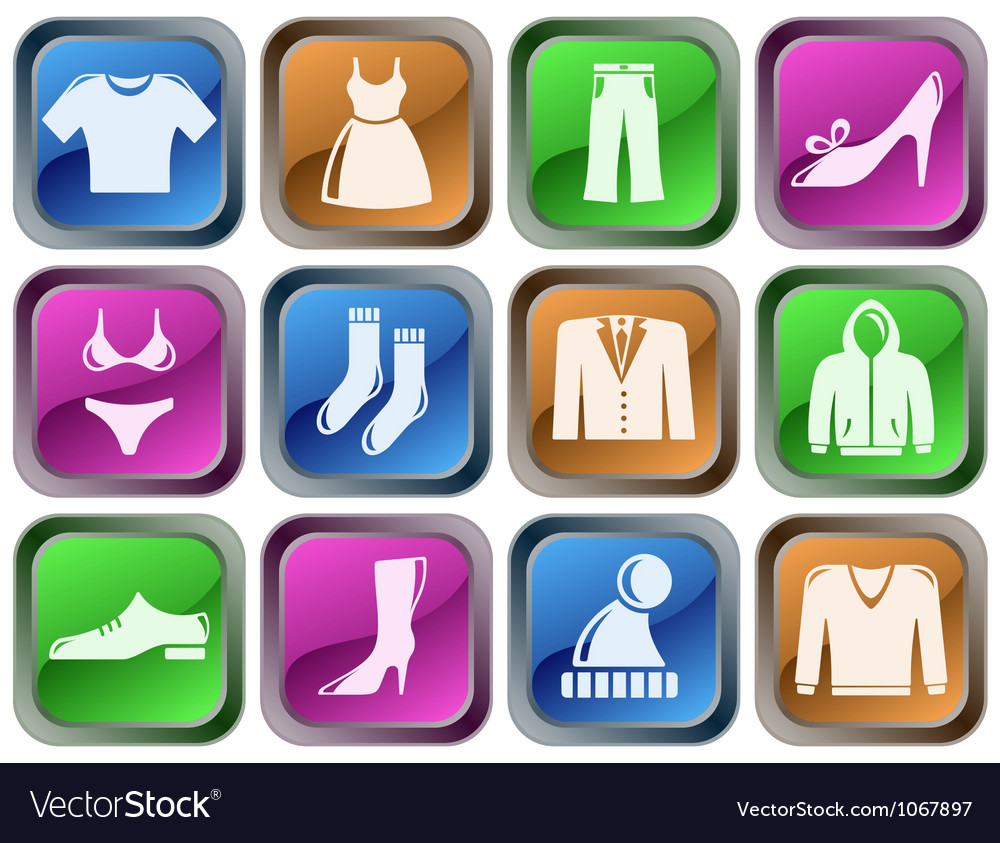 Clothes buttons vector | Price: 1 Credit (USD $1)