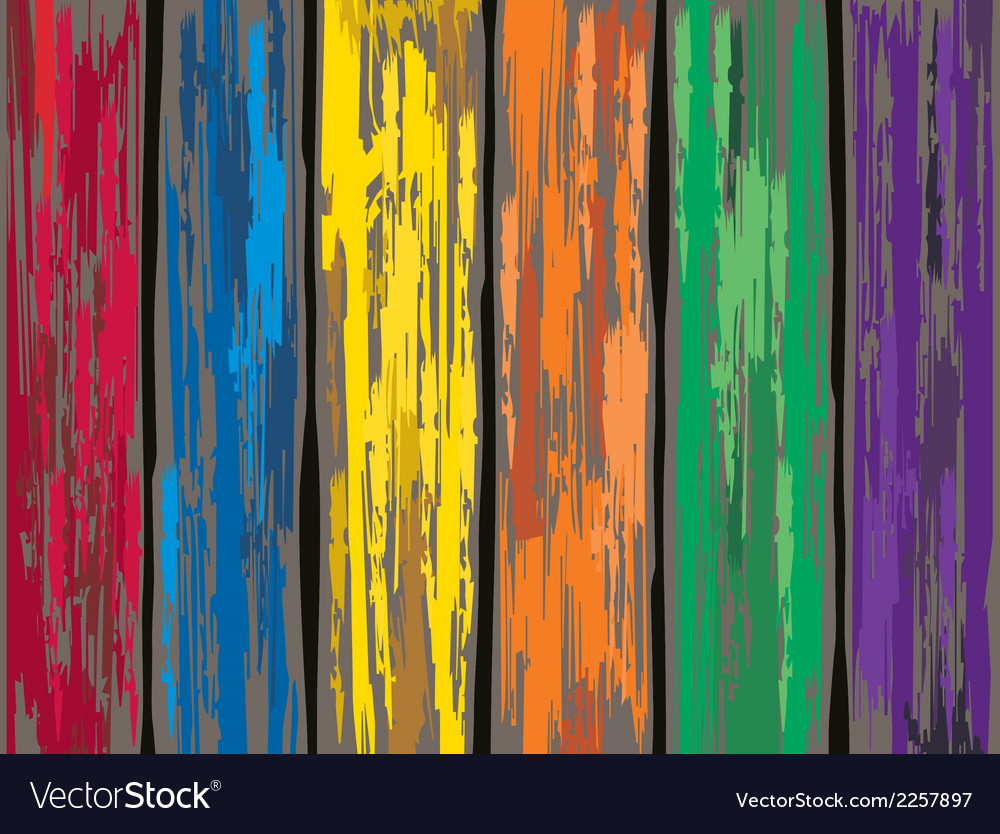 Colored old wooden fence background vector | Price: 1 Credit (USD $1)