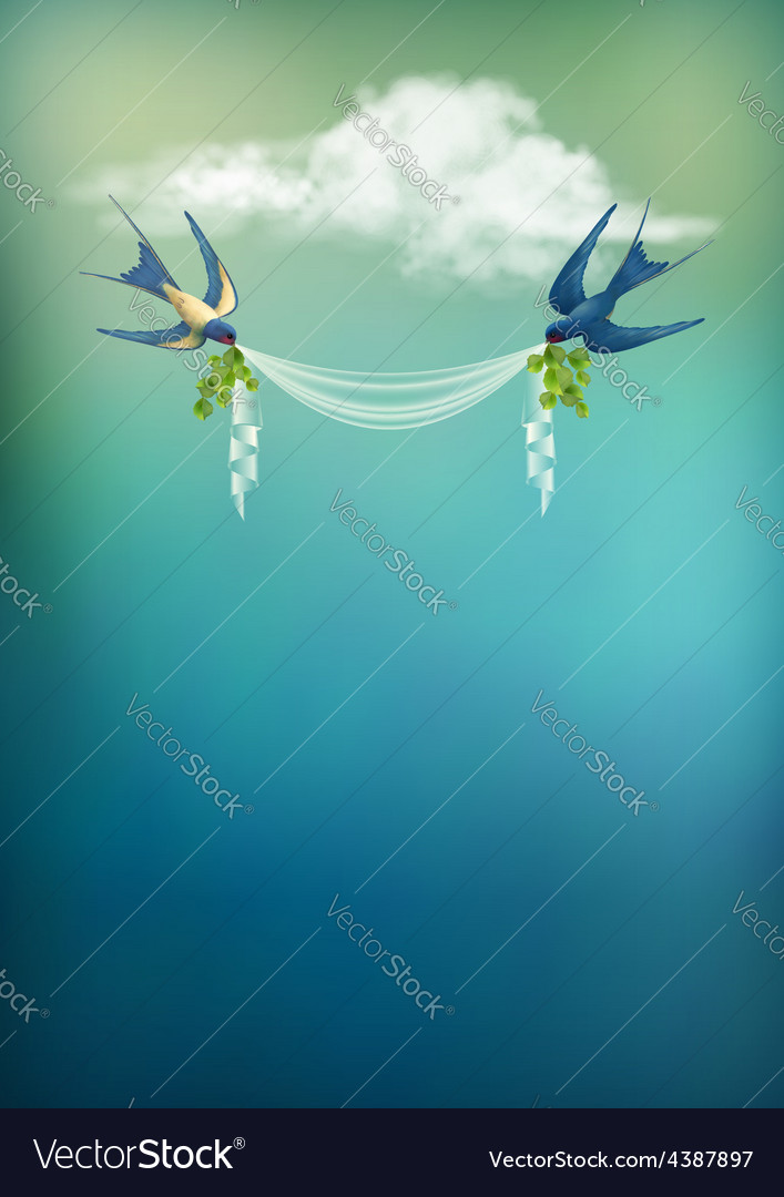 Flying bird swallow card vector | Price: 3 Credit (USD $3)