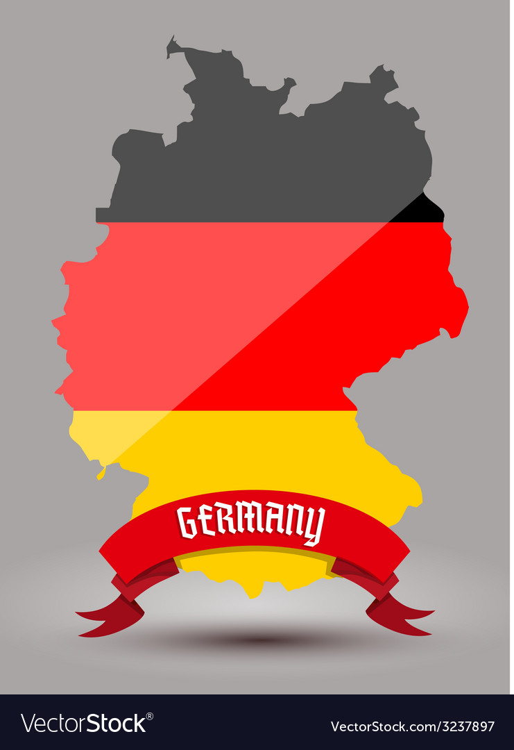 Germany flag map vector | Price: 1 Credit (USD $1)