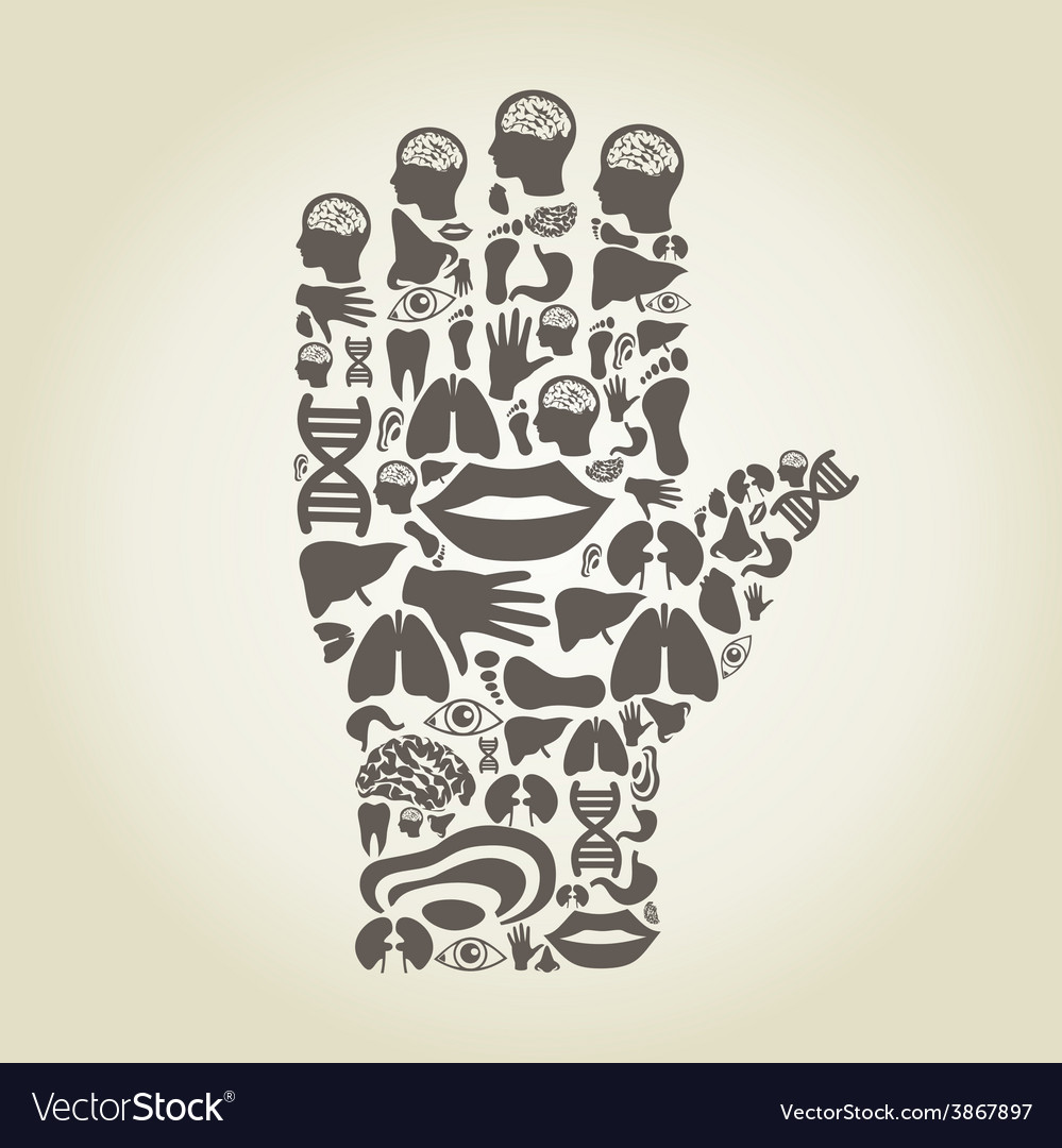 Hand body vector | Price: 1 Credit (USD $1)