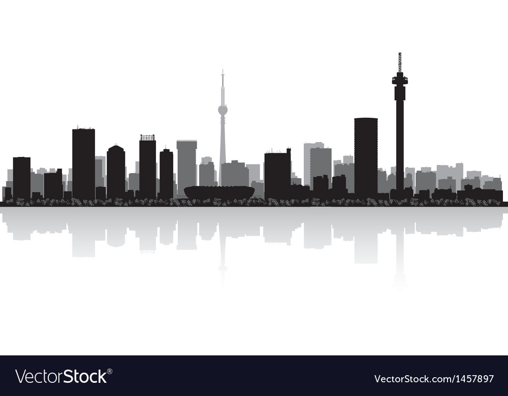 Johannesburg city skyline silhouette vector | Price: 1 Credit (USD $1)