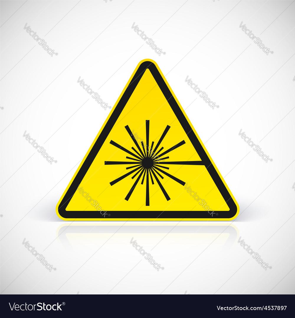 Laser hazard warning sign vector | Price: 1 Credit (USD $1)