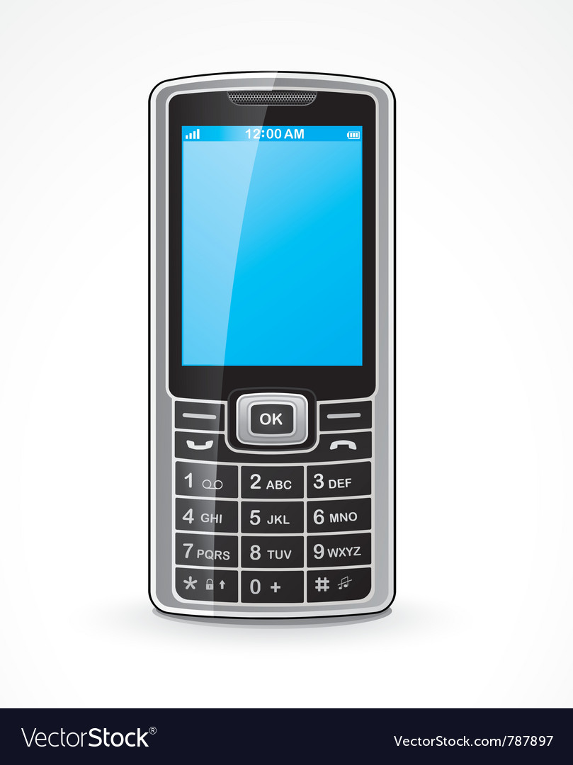 Mobile telephone vector | Price: 3 Credit (USD $3)