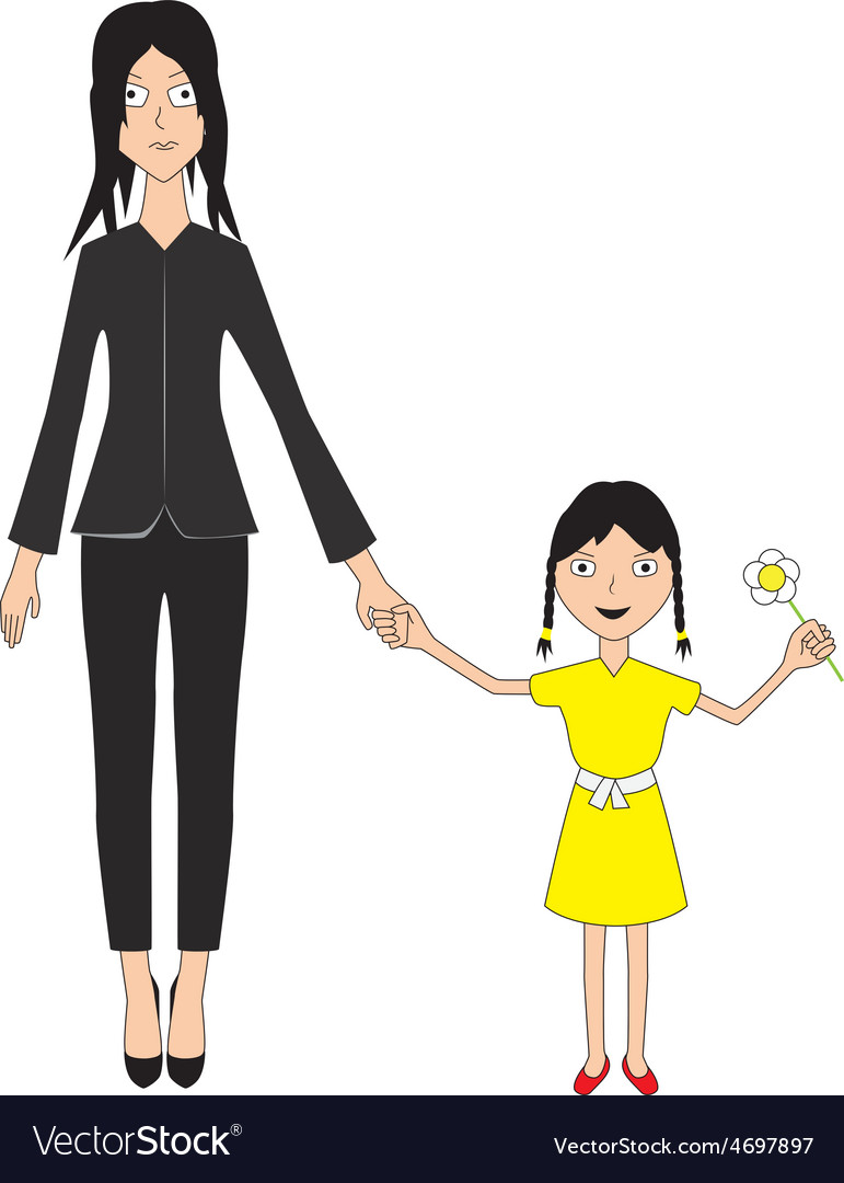 Mother and daughter vector   Price: 1 Credit (USD $1)