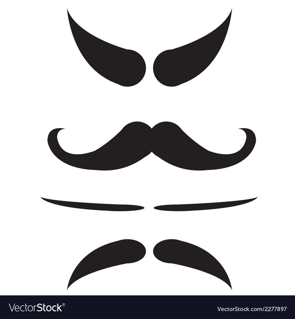 Mustache isolate vector | Price: 1 Credit (USD $1)