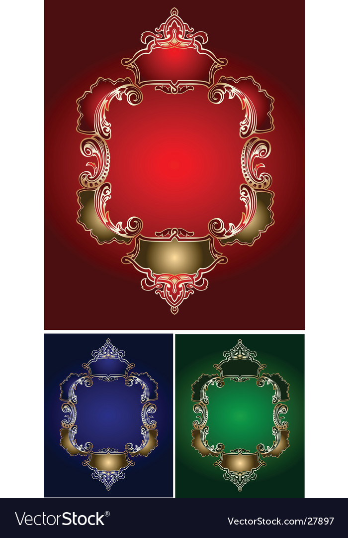 Royal ornate frames vector | Price: 1 Credit (USD $1)