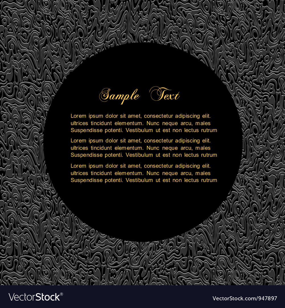 Textured black background with bordered circle for vector | Price: 1 Credit (USD $1)