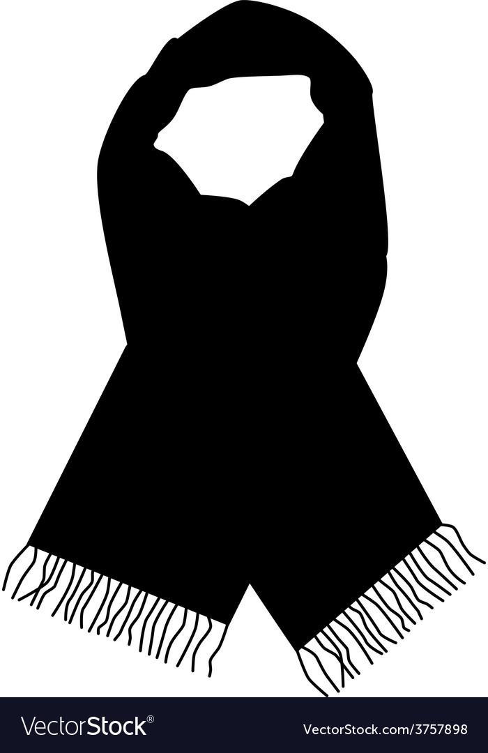 Black scarf vector | Price: 1 Credit (USD $1)
