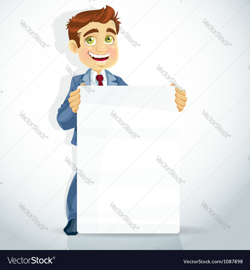 Businessman poster for presentation vector | Price: 3 Credit (USD $3)