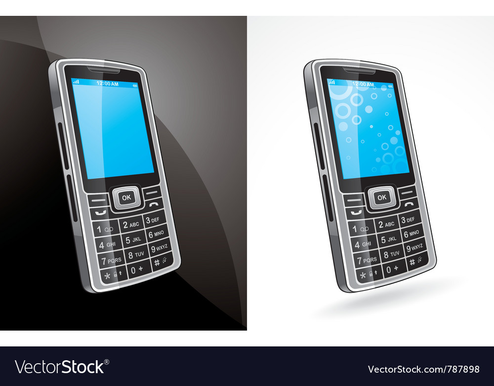 Cellphone model vector | Price: 3 Credit (USD $3)