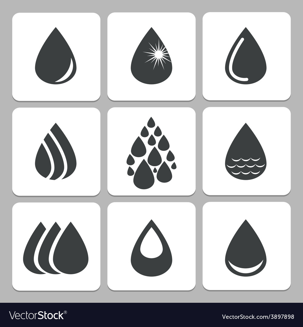 Drop icons vector | Price: 1 Credit (USD $1)