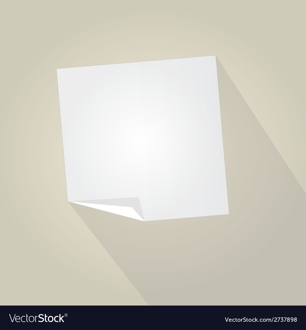 Empty paper with trendy long shadow vector | Price: 1 Credit (USD $1)