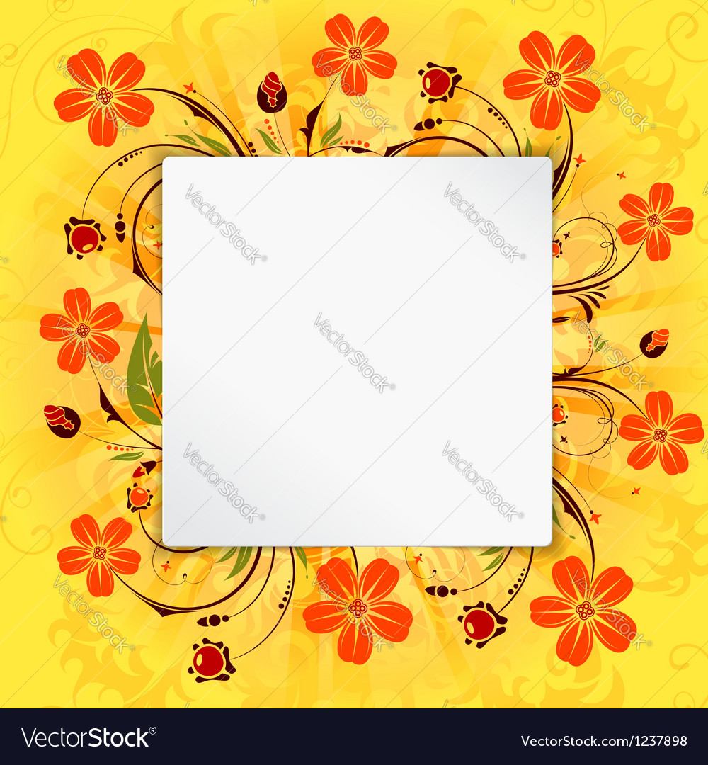 Flower frame vector | Price: 1 Credit (USD $1)