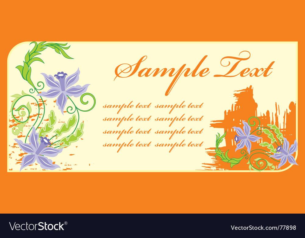 Invitation postcard vector | Price: 1 Credit (USD $1)