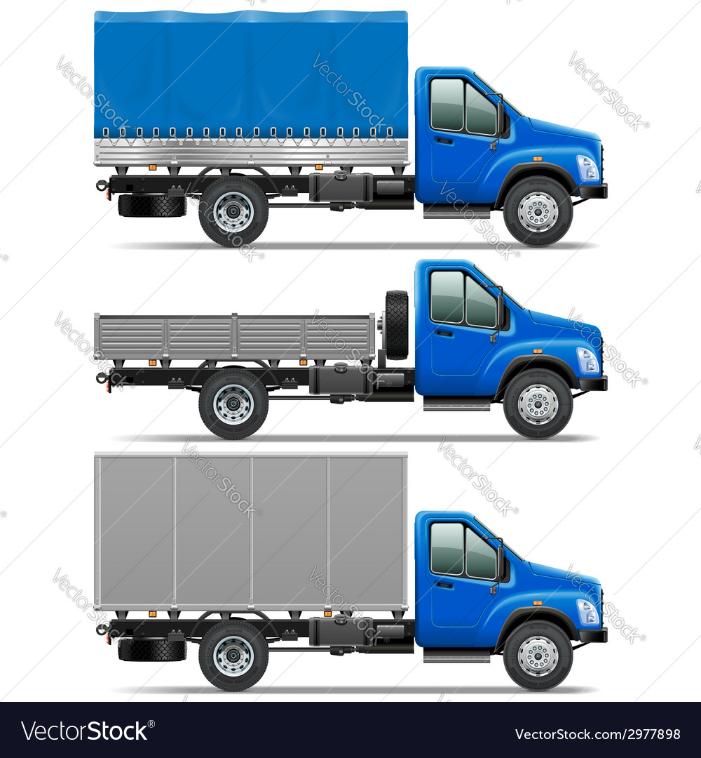 Lorry icons set 1 vector | Price: 1 Credit (USD $1)