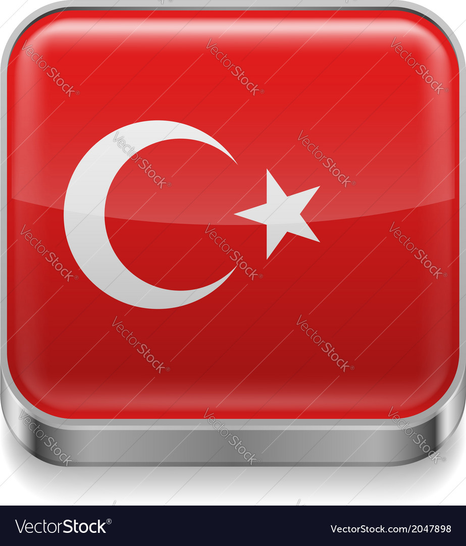 Metal icon of turkey vector | Price: 1 Credit (USD $1)